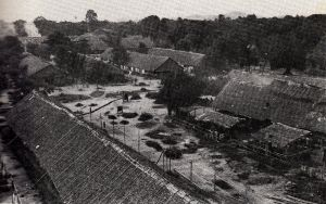 A barracks style camp in Thailand (Imperial War Museum)